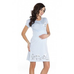 Nightwear koszula Bird - niebieski