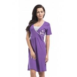 Nightwear koszula Gracja - fiolet