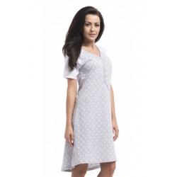 Nightwear koszula Dots- szara