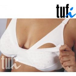 Dwufunkcyjny biustonosz dla kobiet karmiących TUFI biały