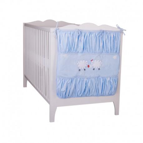 TyiMy przybornik na łóżeczko Fluffy - niebieski